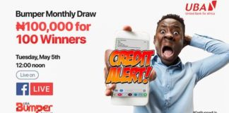 UBA Rewards 100 Customers With N100,000 Amid COVID 19 Meltdown-marketingspace.com.ng