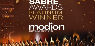 Modion Communications Becomes First Nigerian PR Agency To Win A Platinum SABRE Award-marketingspace.com.ng