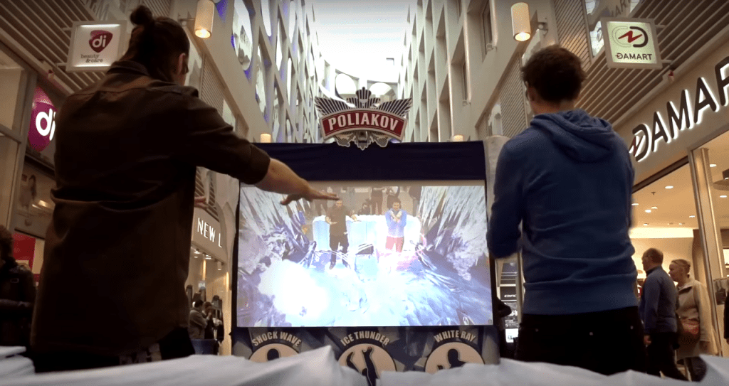 Poliakov allowed users to team up its experiential marketing AR campaign.