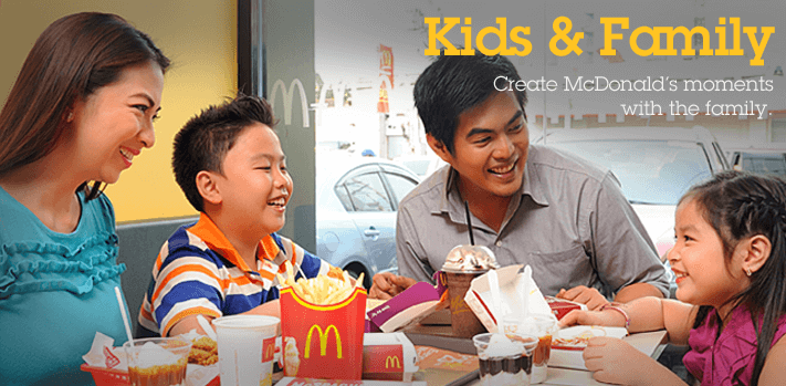 McDonald's creates customer trust among families.