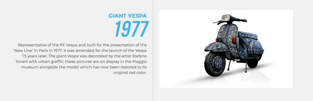 Vespa is no stranger to product customization