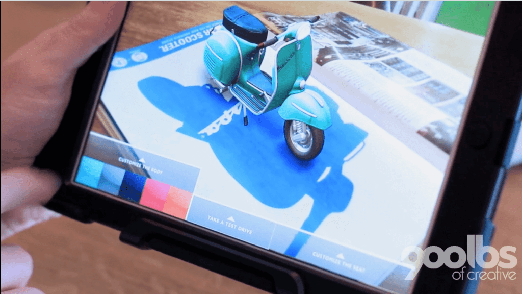 Augmented Reality allows for new modes of product customization