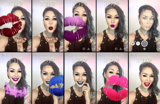 Urban Decay allows users to try on its latest lipstick release through augmented reality.