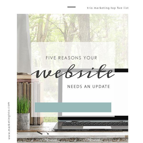 Website Update Web Design Blog Trio Marketing