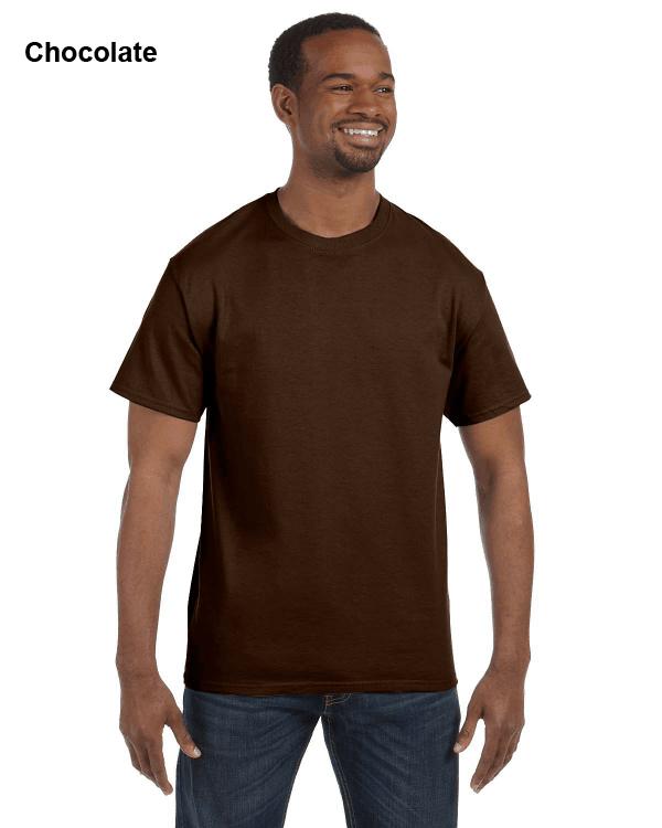 Jerzees Adult 5.6 oz. DRI-POWER ACTIVE T-Shirt Chocolate