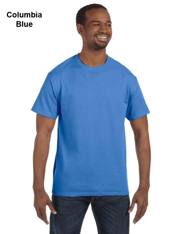 Jerzees Adult 5.6 oz. DRI-POWER ACTIVE T-Shirt Columbia Blue