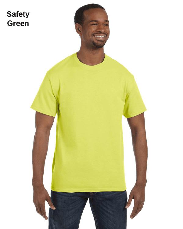 Jerzees Adult 5.6 oz. DRI-POWER ACTIVE T-Shirt Safety Green