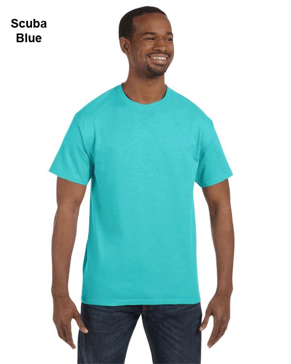 Jerzees Adult 5.6 oz. DRI-POWER ACTIVE T-Shirt Scuba Blue