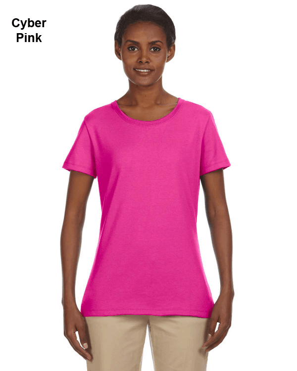 Jerzees Ladies 5.6 oz. DRI-POWER ACTIVE T-Shirt Cyber Pink