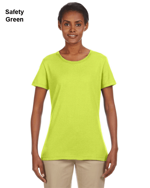 Jerzees Ladies 5.6 oz. DRI-POWER ACTIVE T-Shirt Safety Green