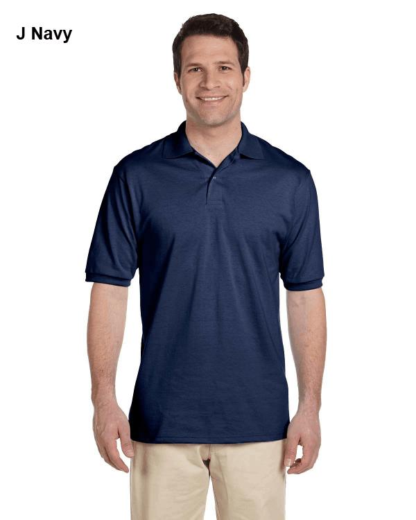 Jerzees Adult 5.6 oz. SpotShield Jersey Polo Shirt J Navy