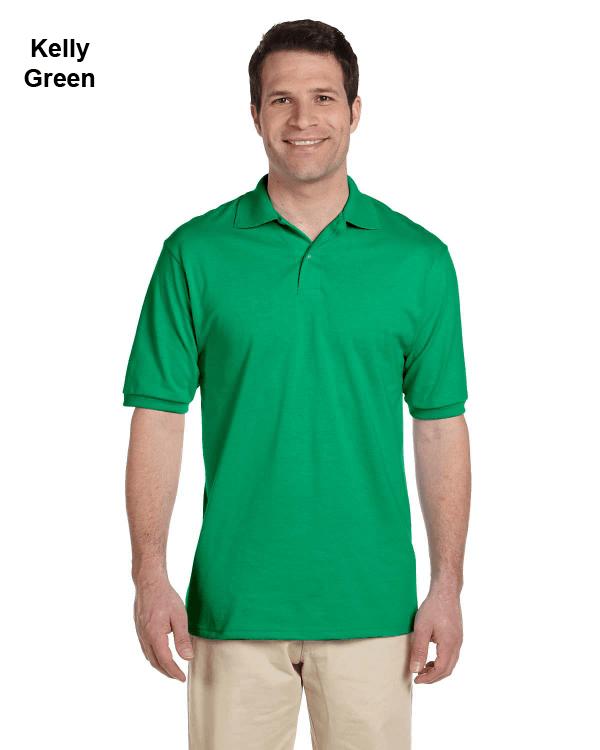 Jerzees Adult 5.6 oz. SpotShield Jersey Polo Shirt Kelly Green