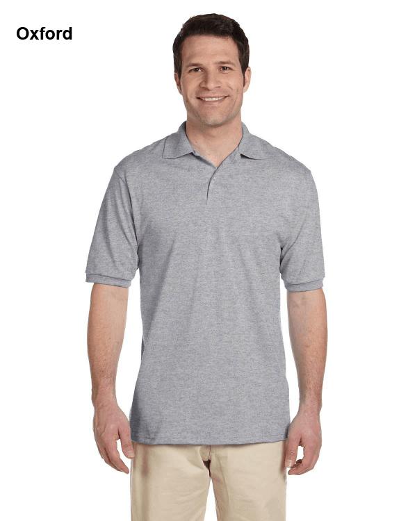 Jerzees Adult 5.6 oz. SpotShield Jersey Polo Shirt Oxford