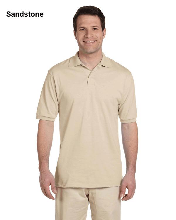 Jerzees Adult 5.6 oz. SpotShield Jersey Polo Shirt Sandstone