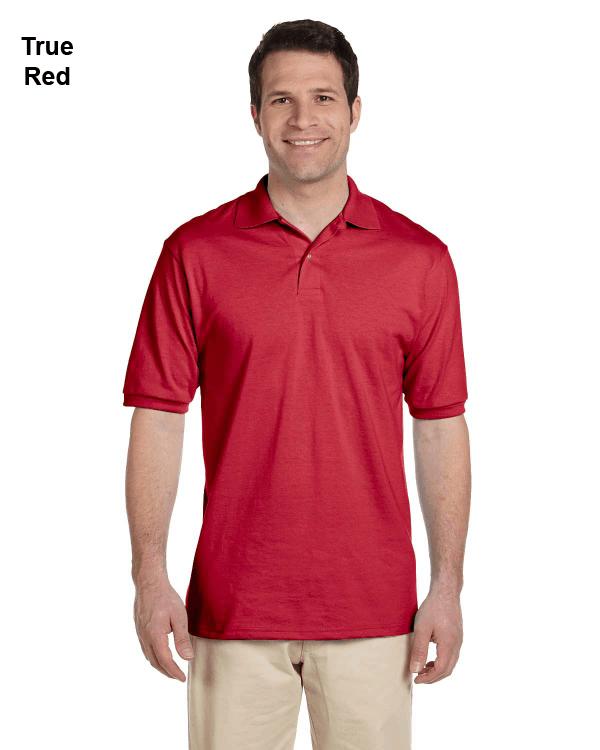 Jerzees Adult 5.6 oz. SpotShield Jersey Polo Shirt True Red