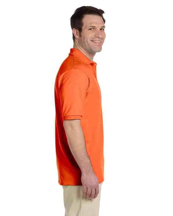 Jerzees Adult 5.6 oz. SpotShield Jersey Polo Shirt Burnt Orange Side