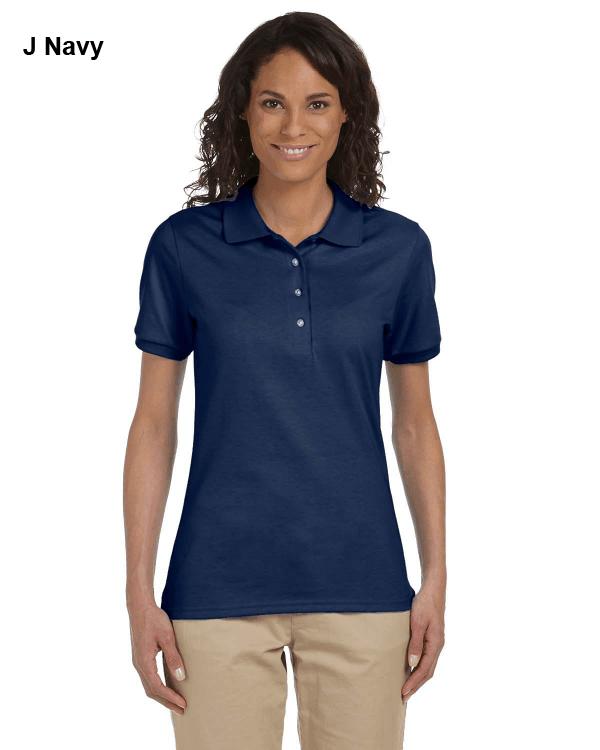 Jerzees Ladies 5.6 oz. SpotShield Jersey Polo Shirt J Navy