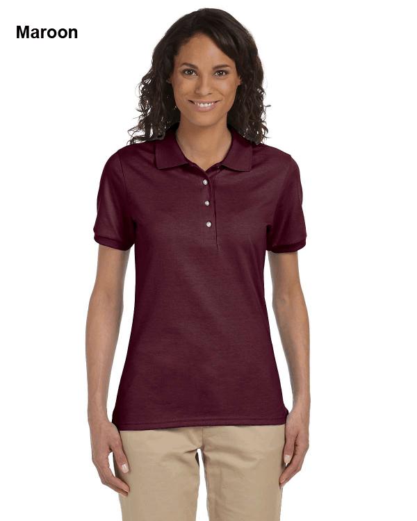 Jerzees Ladies 5.6 oz. SpotShield Jersey Polo Shirt Maroon