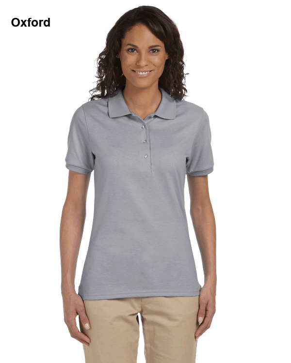 Jerzees Ladies 5.6 oz. SpotShield Jersey Polo Shirt Oxford
