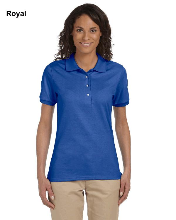 Jerzees Ladies 5.6 oz. SpotShield Jersey Polo Shirt Royal