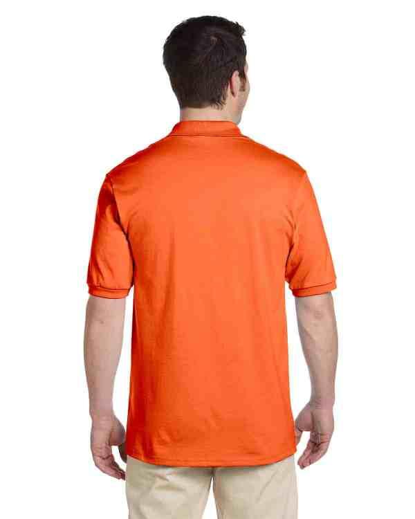 Jerzees Adult 5.6 oz. SpotShield Jersey Polo Shirt Burnt Orange Back