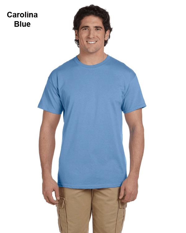 Hanes Adult 5.2 oz., 50/50 EcoSmart® T-Shirt Carolina Blue