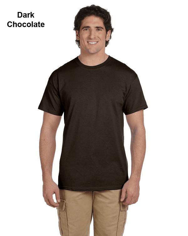 Hanes Adult 5.2 oz., 50/50 EcoSmart® T-Shirt Dark Chocolate
