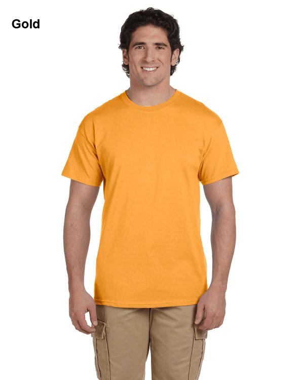 Hanes Adult 5.2 oz., 50/50 EcoSmart® T-Shirt Gold