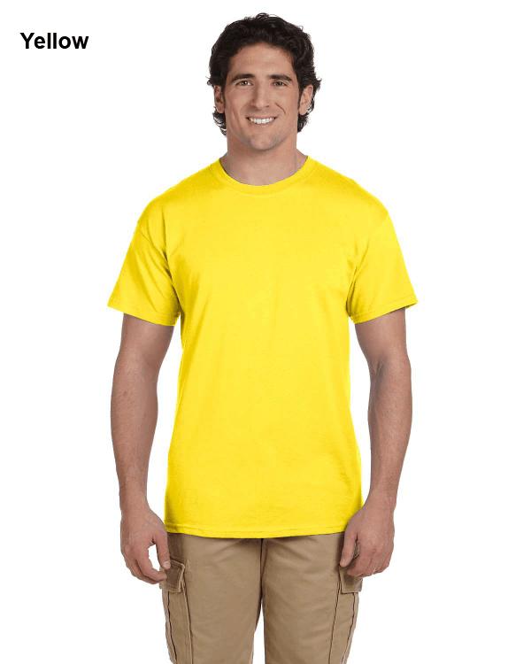 Hanes Adult 5.2 oz., 50/50 EcoSmart® T-Shirt Yellow