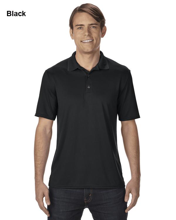 Gildan Adult Performance® 4.7 oz. Jersey Polo Shirt Black