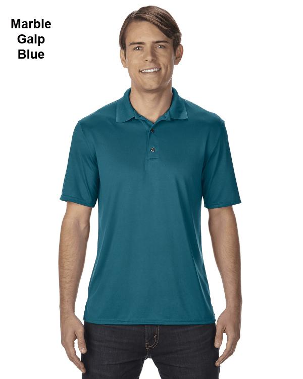 Gildan Adult Performance® 4.7 oz. Jersey Polo Shirt Marble Galp Blue