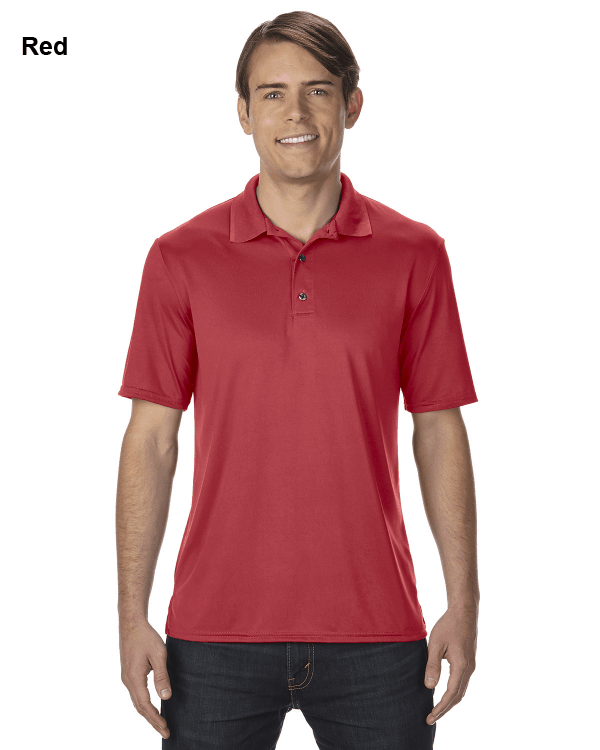 Gildan Adult Performance® 4.7 oz. Jersey Polo Shirt Red