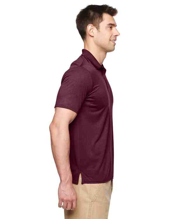 Gildan Adult Performance® 4.7 oz. Jersey Polo Shirt Marble Maroon Side