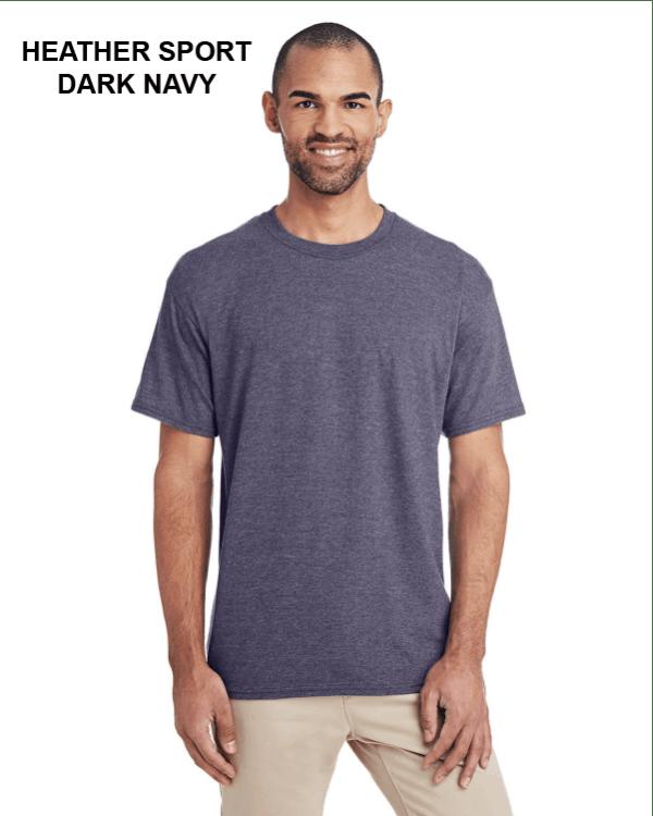 Gildan Adult 5.5 oz., 50/50 T-Shirt Heather Sport Dark Navy