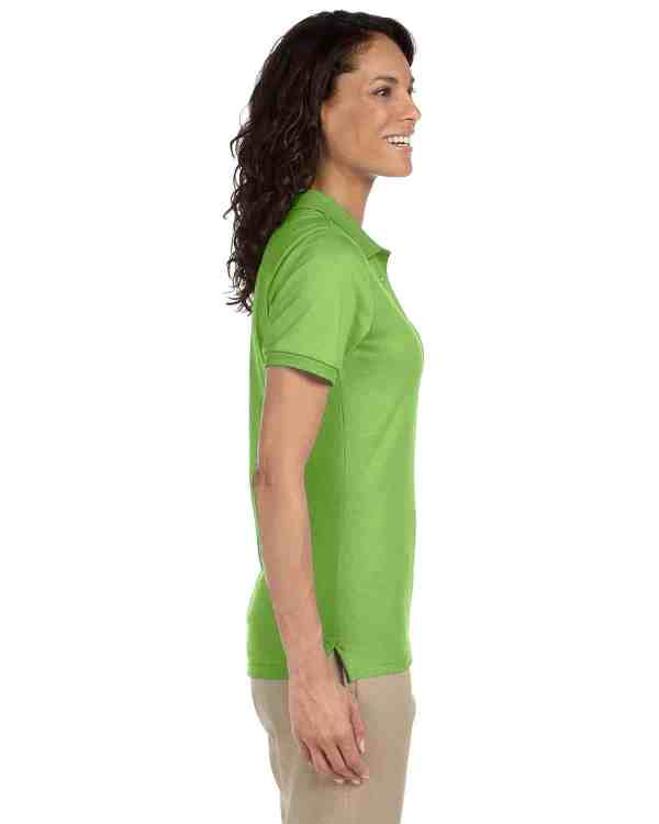Jerzees Ladies 5.6 oz. SpotShield Jersey Polo Shirt Kiwi Side