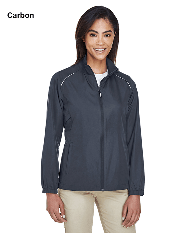 Core 365 Ladies Motivate Unlined Lightweight Jacket Carbon