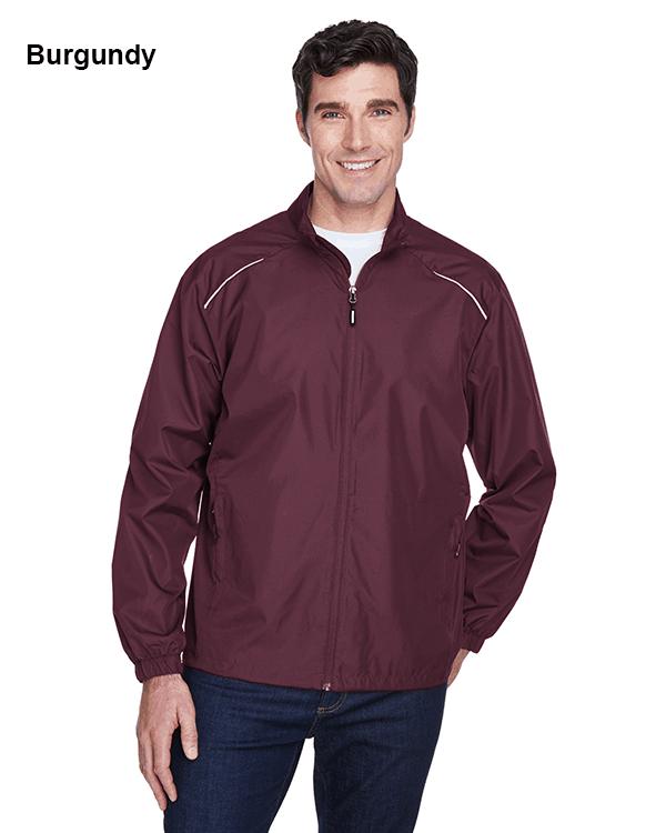 Core 365 Mens Motivate Unlined Lightweight Jacket Burgundy