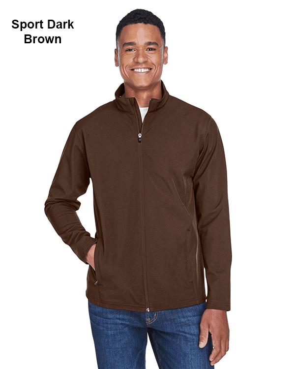 Team 365 Mens Leader Soft Shell Jacket Sport Dark Brown