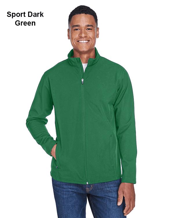 Team 365 Mens Leader Soft Shell Jacket Sport Dark Green