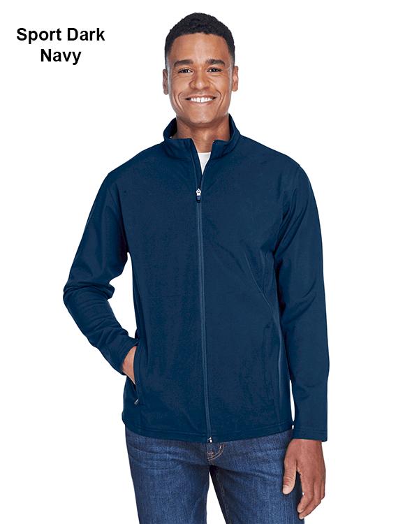 Team 365 Mens Leader Soft Shell Jacket Sport Dark Navy