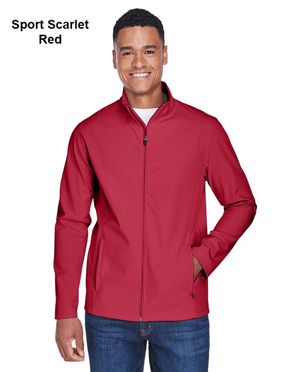 Team 365 Mens Leader Soft Shell Jacket Sport Scarlet Red