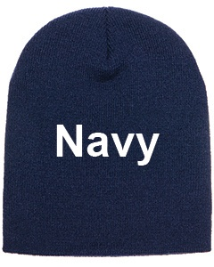 yupoong adult knit beanie navy
