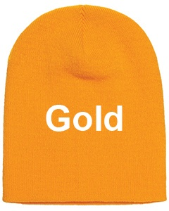 yupoong adult knit beanie gold