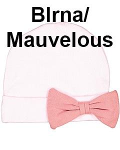 Rabbit Skins Infant Baby Rib Bow Cap Blrna/Mauvelous