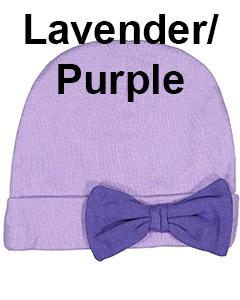 Rabbit Skins Infant Baby Rib Bow Cap Lavender/Purple