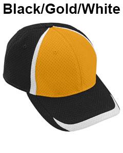 Augusta Drop Ship Adult Change Up Cap Black/Gold/White