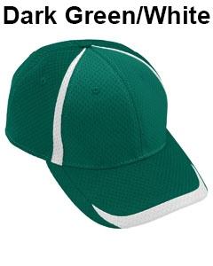Augusta Drop Ship Adult Change Up Cap Dark Green/White