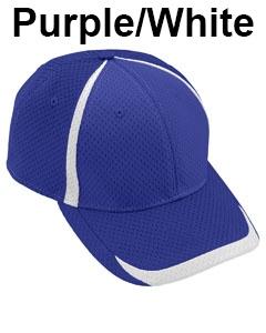 Augusta Drop Ship Adult Change Up Cap Purple/White