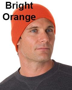 Bayside 100% Acrylic Beanie Bright Orange