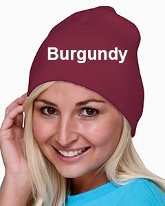 Bayside 100% Acrylic Beanie Burgundy